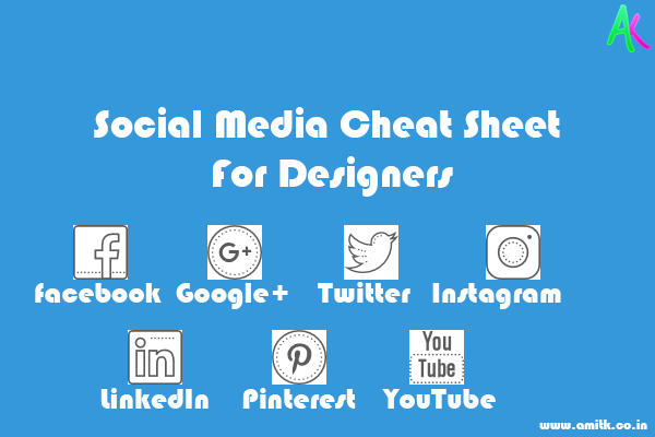 Social Media Cheat Sheet 2017 For Designers