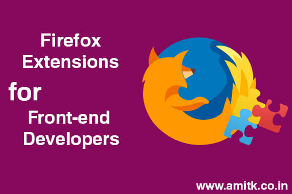 7 Firefox Extensions for Front-end Developers