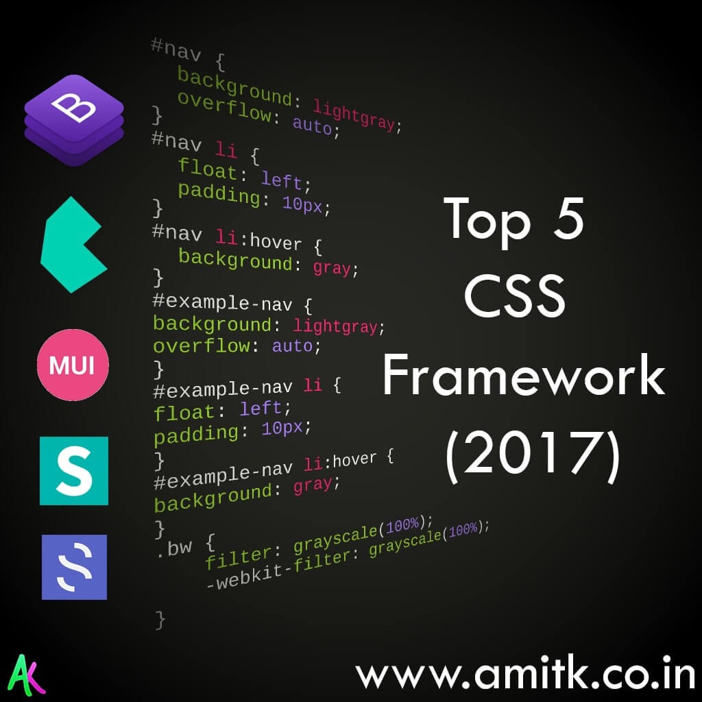 Top CSS Framework 2017